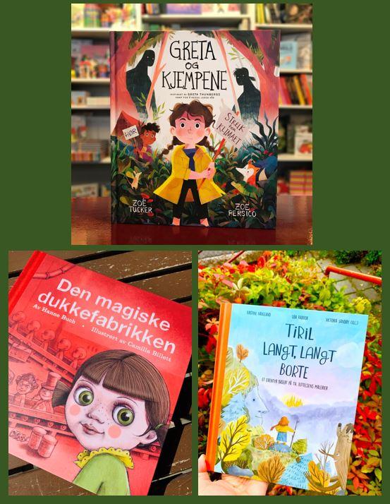 Barnebøker, bildebøker, eventyr, eventyrbøker, helter, heltinner, fantasy, bestselgere, barneboktips, de beste barnebøkene, bøker for 4-åringen, bøker for 5-åringen, bøker for 6-åringen, bøker for 7-åringen, bursdagsgave, julegave, Th.Kittelsen, Nøkken, Soria Moria Slott, Troll, Levende dukker, Greta Thunberg, miljøvern, Figenschou forlag, leseglede, leselyst, les for meg.