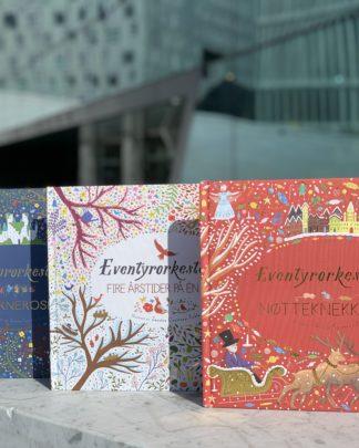 Barnebøker, bildebøker, barneboktips, eventyr, eventyrbøker, helter, heltinner, fantasy, bestselgere, barneboktips, de beste barnebøkene, bøker for 3-åringen, 4-åringen, bøker for 5-åringen, bøker for 6-åringen, bøker for 7-åringen, bursdagsgave, julegave, E.T.A. Hoffman, Pjotr Tsjajkovskij, Antonio Vivaldi, Nøtteknekkeren, Tornerose, Fire Årstider, Den Norske Opera og ballett, dans, ballett, opera, klassisk musikk, klassiker, juleeventyr, Figenschou forlag, leseglede, leselyst, les for meg, Årstider.
