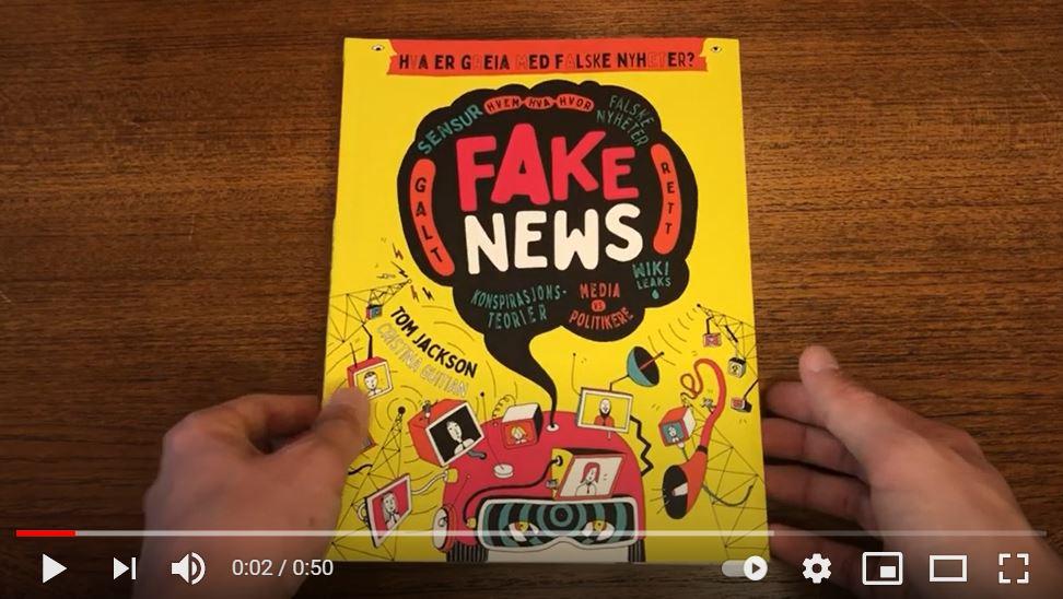 Fake news, Falske nyheter, medievitenskap, Populisme, konspirasjonsteorier, sensur, ytringsansvar og ytringsfrihet, memer, folkejournalistikken og verdensveven, world wide web, reklame og omskriving av historien, om myter og triksing med bilder, PRESSEN og publisitet, faktabok, ungdomsbok, barnebok, barneboktips, bursdagsgave, julegave, julegavetips til ungdom, 10 år, 11 år, 12 år, 13 år, 14 år, 15 år, de beste bøkene, bestselger.